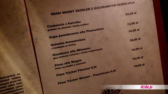 Stary Browar po rewolucji Magdy Gessler Czy jest dobrze? -> Projekt Kuchnia Stary Browar Menu
